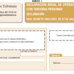 Modelo 347. Declaración de operaciones con terceros