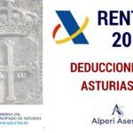 DEDUCCIONES RENTA 2016 ASTURIAS (I)