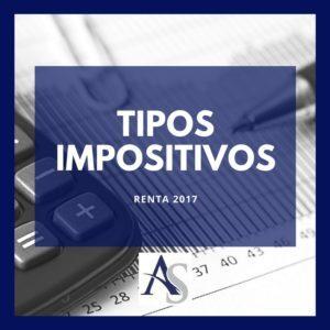 ¿Cuáles son los tipos impositivos en la Declaración de la Renta 2017?