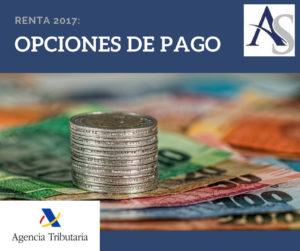 Opciones de pago Renta 2017