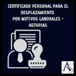 Certificado para desplazamiento personal por motivos laborales
