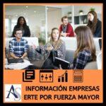 Información Empresas: ERTE por Fuerza Mayor