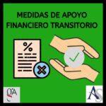 Medidas de apoyo financiero transitorio. Real Decreto ley 7/2020, de 12 de marzo