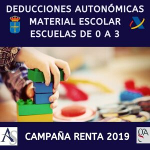 Deducciones asturias material escolar y escuela de 0 a 3 campaña renta 2019 alperi asesores gestoria administrativa e1587083581775