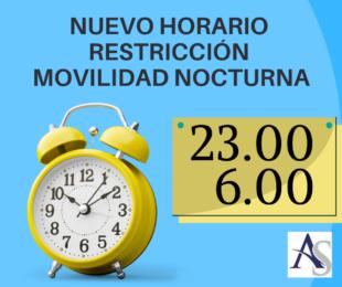 Nuevo horario restriccion movilidad nocturna alperi asesores gestoria administrativa