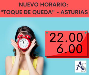 Nuevo horario toque de queda Asturias alperi asesores gestoria administrativa