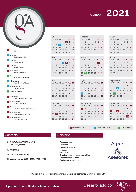 Calendario Laboral 2021