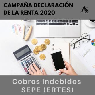 Declaracion de la renta 2020 Cobros indebido SEPE ERTE Alperi Asesores Gestoria Administrativa