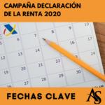 RENTA 2020: Fechas Clave