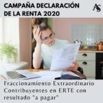 RENTA 2020: Fraccionamiento extraordinario ERTES
