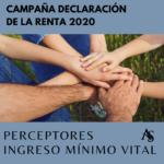 RENTA 2020: Perceptores Ingreso Mínimo Vital